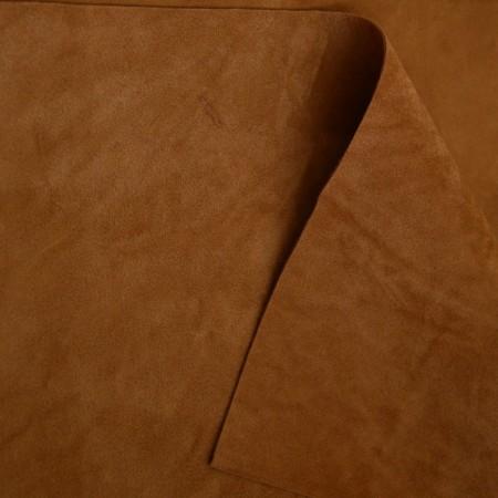 Замша двусторонняя - Рыже-коричневая