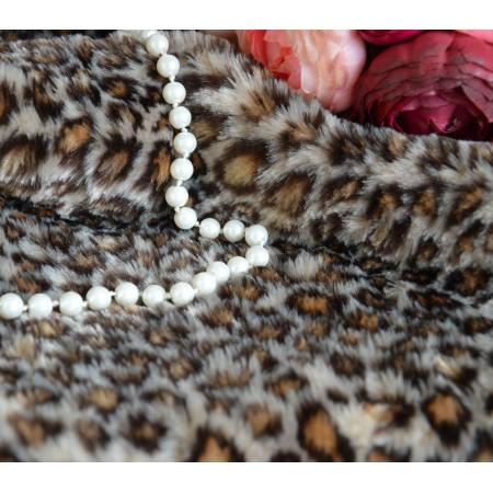 Мех Леопард  9мм