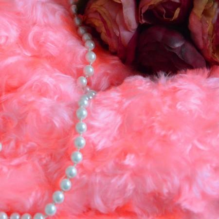 Мех завитки 19мм Розовый
