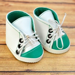 Кеды для куклы 7см - Зеленые