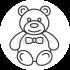 Мех для создания мишек Тедди