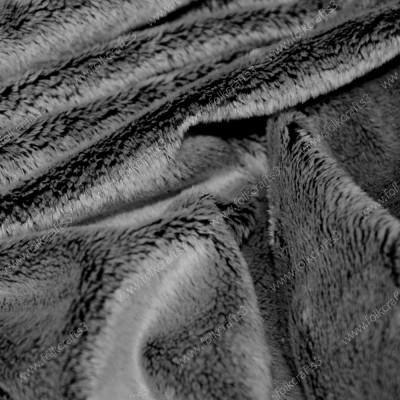 Мех Вельбоа Серый на черной основе